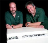 John Bradley and Martin Smith with the M4000 mellotron
